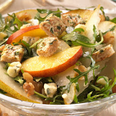 Nectarine and pear salad with Stilton