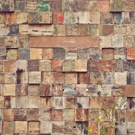 used wood wall by Iyus Djuhara - Abstract Patterns ( pattern, wood, still life, cube, wall )