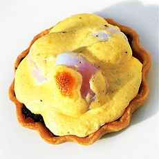 Wild Mushroom Tartlets with Poached Quails' Eggs
