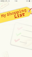 Screenshot of My Shopping List
