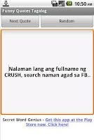 Screenshot of Funny Quotes Tagalog