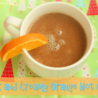 Thick and Creamy Orange Hot Cocoa