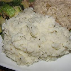 Garlic Basil Mashed Potatoes
