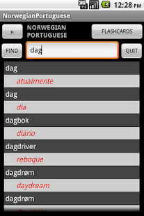 Norwegian Portuguese Dict - screenshot