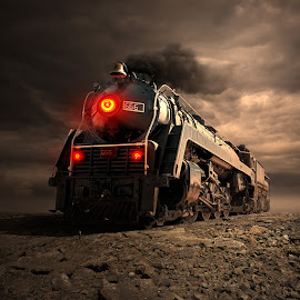 Devil's train by Tomasz Z - Digital Art Things ( train, photomanipulation., devil, man )