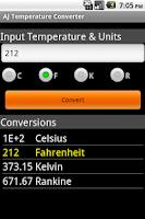 Screenshot of AJ Temperature Converter