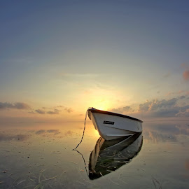 Sunrise this Morning by Arya Satriawan - Landscapes Sunsets & Sunrises ( bali, national geographic, beach, sunrise, boat, landscape )