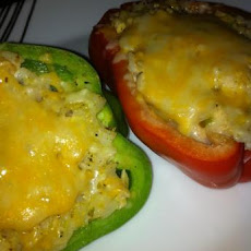 Weight Watchers Chicken and Rice Stuffed Bell Peppers