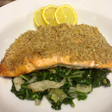 Honey-Dijon Walnut Salmon