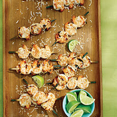 Coconut Lime Shrimp Skewers