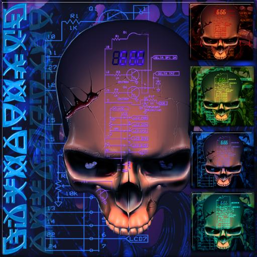 Biomechanical Skull Wallpaper