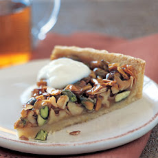 Caramelized Pistachio, Walnut, and Almond Tart