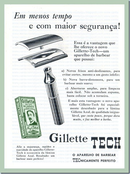 publicidade antiga_santa nostalgia_gillette