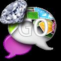 GO SMS - Abstract Diamonds icon