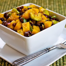 Mango Salad with Black Beans, Avocado, Mint, and Chile-Lime Vinaigrette