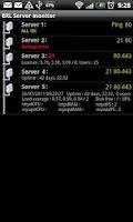 Screenshot of Servers monitor