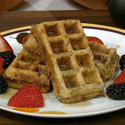 Bacon & Bittersweet Chocolate Waffles with Chili-Cinnamon Syrup