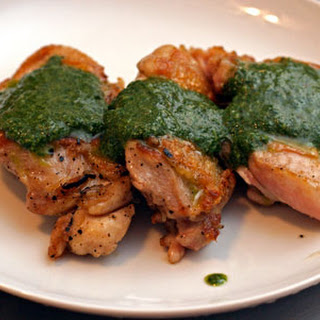 Grilled Chicken with Herb Sauce