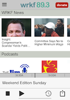 Screenshot of WRKF Public Radio App