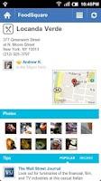 Screenshot of foodSquare