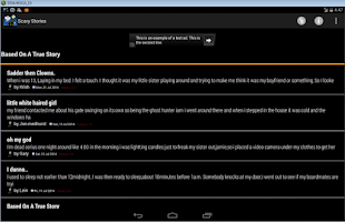Screenshot of Scary Stories