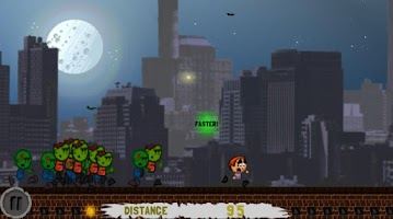 Screenshot of Yikes! Zombies! Run!