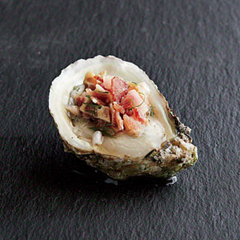 Oysters with Bacon Mignonette
