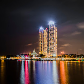 Rainbow reflection by Jee Cornelius - Buildings & Architecture Office Buildings & Hotels ( reflection, indonesia, jakarta, beach, place,  )