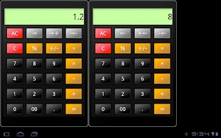 Screenshot of Calc2.0 for tablet