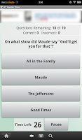 Screenshot of TV Quotes Trivia