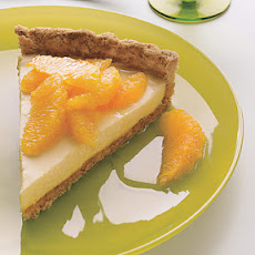 Cream Tart with Oranges, Honey, and Toasted-Almond Crust