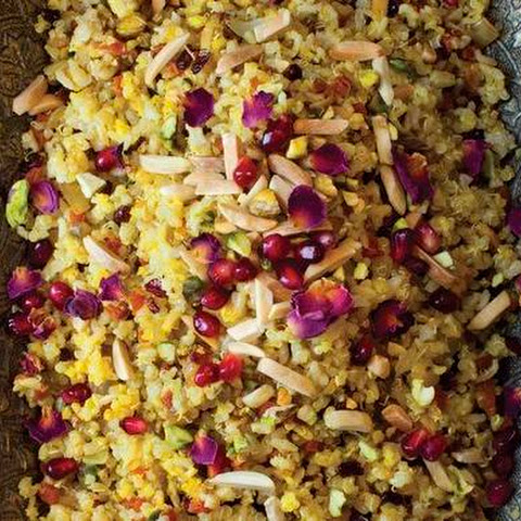 Jeweled Brown Basmati Rice and Quinoa (Morassa Polo) from 'The New Persian Kitchen'
