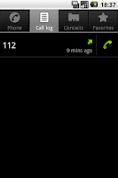 Screenshot of Call Log Shortcut