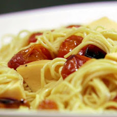 Roasted Grape Tomatoes with Tangled Noodles