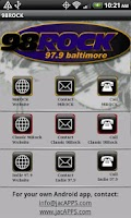 Screenshot of Baltimore 98 Rock/WIYY 97.9 FM