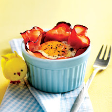 Ham Bowls with Eggs and Polenta