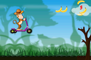 Screenshot of Monkey Safari Run-Badland Kong