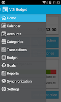 Screenshot of ViZi Budget