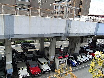 tienda coches usados vía tren Shinkansen 新幹線 線路 電車 中古車 店 second hand used cars shop rails train