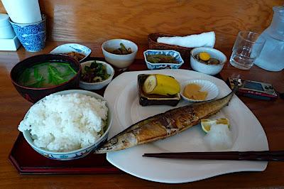 Savatei 鯖亭 日替わり 定食 ランチ menú del día lunch special さんま sanma saury sauri paparda