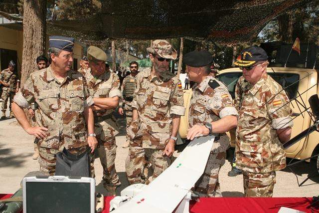 La JEMAD en visita a las tropas en Afganistán