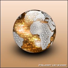 World Icon brown