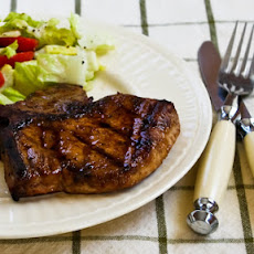 Grilled Pork Chops with Asian Black Bean-Garlic Marinade
