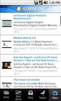 Screenshot of comScore News