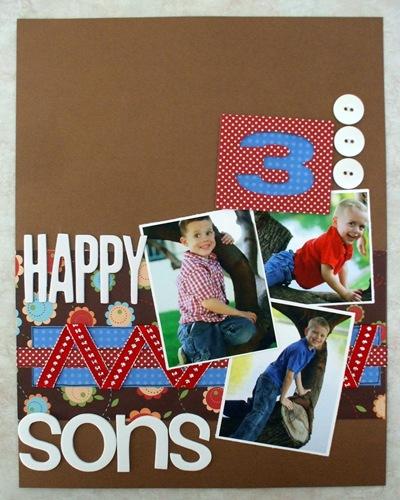 3 happy sons