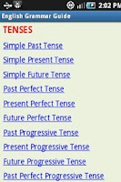Screenshot of English Grammar Guide