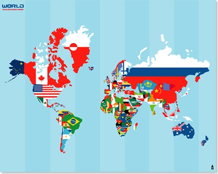 map of world with countries and. countries and map of world