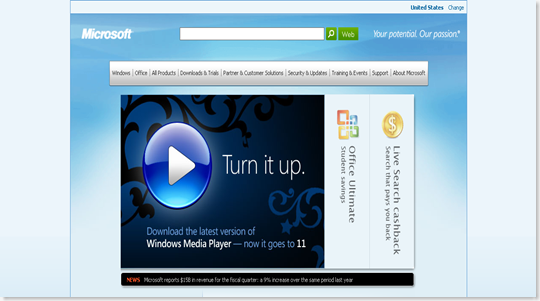 MicrosoftHomePage