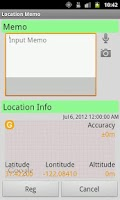 Screenshot of Location Memo