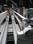 Eine Ladder mit daran befestigten Faserbündel